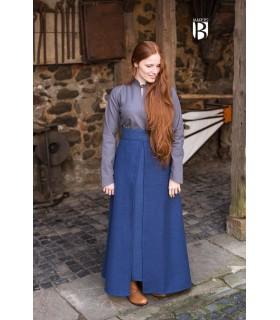 Skirt medieval Mere, cotton blue