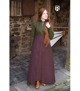 Skirt medieval Mere, cotton brown