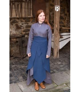 Skirt medieval Tharya, cotton blue