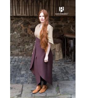 Skirt medieval Tharya, brown cotton