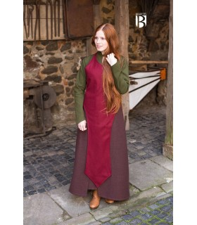 Apron medieval Apron, red wool