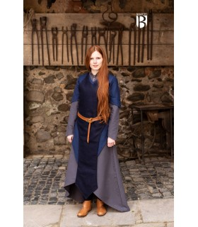 Apron medieval Asua, wool blue