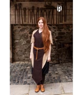 Apron medieval Asua, brown wool