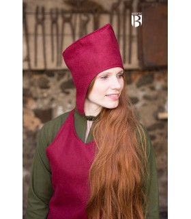 Hat of the magician good-bye, red wool