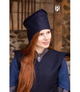 Hat of the magician good-bye, wool blue