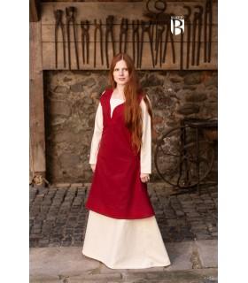 Dress medieval Lannion, red