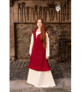 Dress medieval Lannion, red
