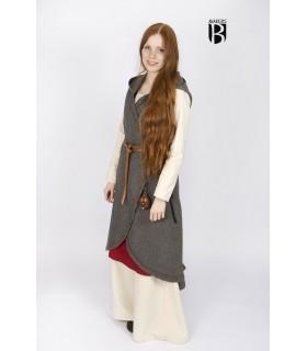 Brial medieval Myrana, gray wool