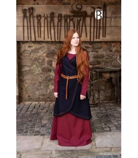 Brial medieval Myrana, wool blue