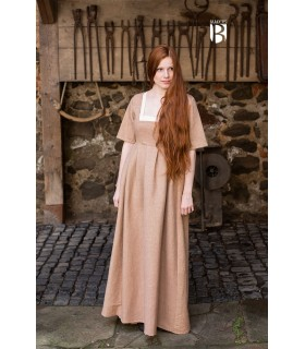 Dress medieval Frideswinde, beige