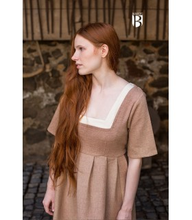 Dress medieval Frideswinde, beige