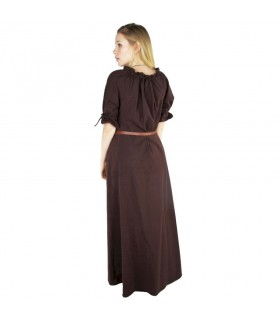 Dress medieval Karen, brown