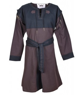 Robe Medieval Brown-Black with detachable sleeves