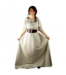 Dress medieval Karen, natural white