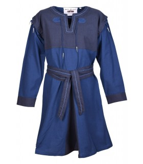 Tunic Medieval Blue-dark Blue with detachable sleeves