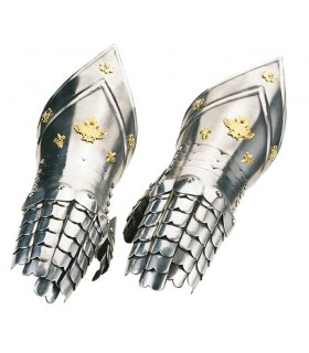 Gauntlets chiseled gold, Marto