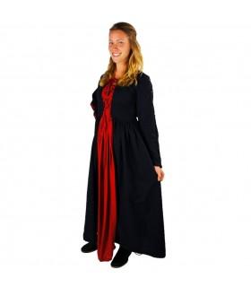 Dress medieval Medusa, black-red