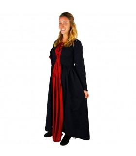 Dress medieval Medusa, black-red