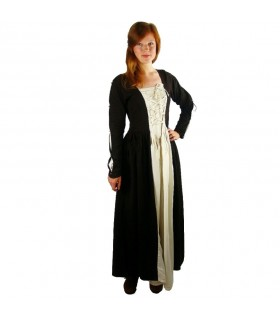 Dress medieval Medusa, black-cream