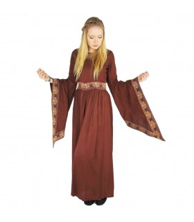 Dress medieval nobility, red, burgundy