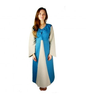 Dress medieval cotton light blue
