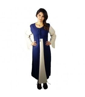 Dress medieval cotton dark blue