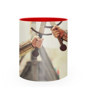 Ceramic mug Medieval Fighting