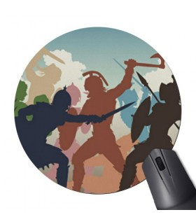 Mouse Mat Mouse Round Fight Gladiators