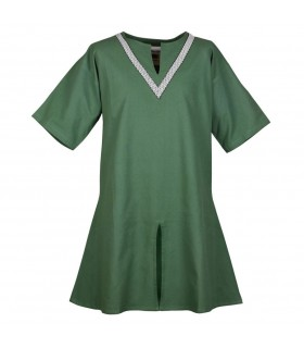 Tunic medieval Ailrik green