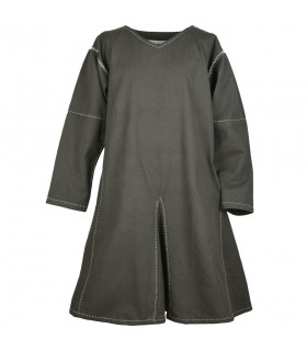 Tunic medieval long sleeve Askur, olive green