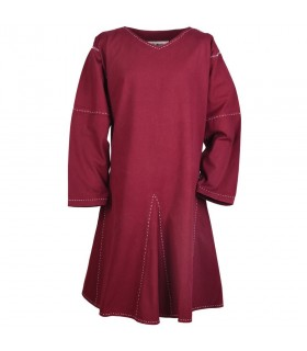 Tunic medieval long sleeve Askur, red