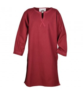 Tunic medieval long-Albrecht, red