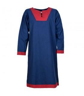 Tunic medieval long Vallentin, blue