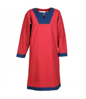 Tunic medieval long Vallentin, red