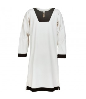 Tunic medieval long Vallentin, white