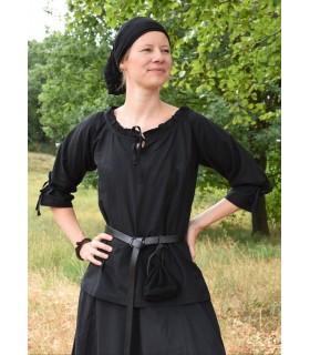 Blouse medieval women Birga, black