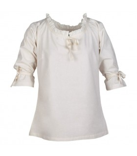 Blouse medieval women Birga, white
