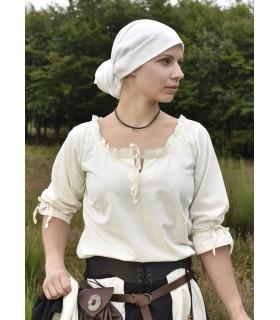 Blouse medieval women Birga, white