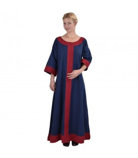 Dress medieval Gudrun, blue-red