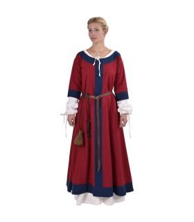 Dress medieval Gudrun, red-blue