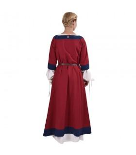 Gudrun medieval dress, red-blue