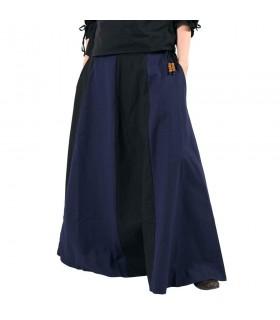 Skirt medieval long blue-black