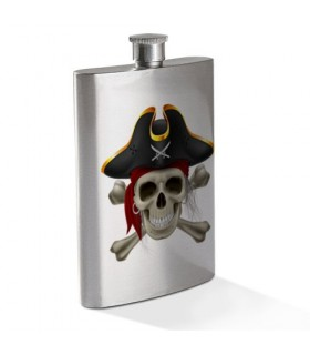 Hip flask Skull Pirate Stainless Steel