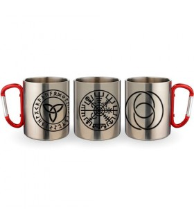 Cup Steel Carabiner Celtic Symbols