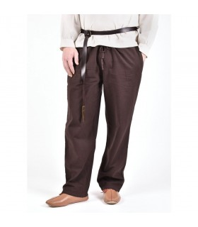 Pants medieval Hagen, brown