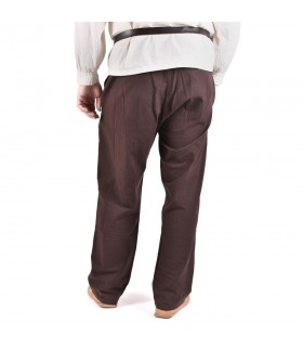 Pants medieval Hagen, brown