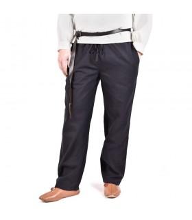 Pants medieval Hagen, black