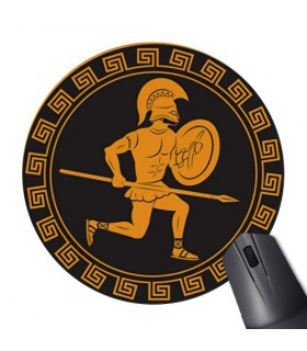 Mouse Mat Mouse Round Spartan Warrior