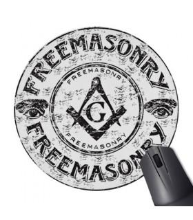 Masonic Round Mouse Pad