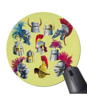 Mouse Mat Mouse Round Helmets Historic